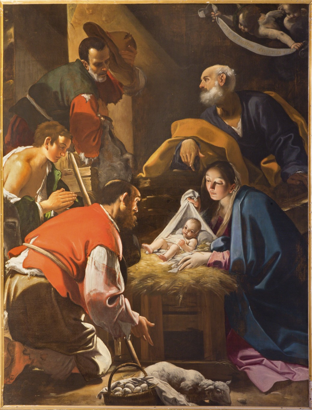 Adoration of the Shepherds by Annibale Carracci, Bologna